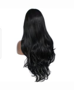 naural black synthetic humn hair fiber heat resistant lace front wig $73.00 Thumbnail