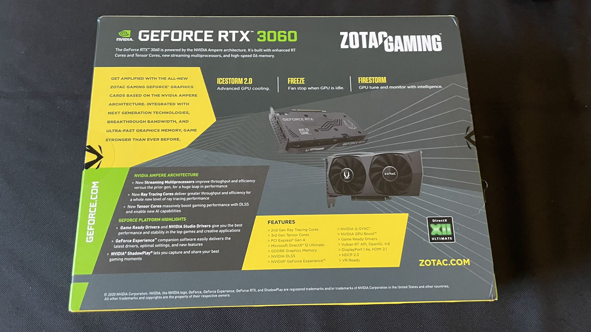 ZOTAC Gaming GeForce RTX 3060 Twin Edge OC 12GB Graphics Card ZT-A30600H-10M (BRAND NEW, FACTORY SEALED)