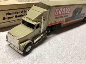 Dennis Anderson Grave Digger Monster Truck Racing team Hauler 1992 made by ERTL Original Box for Sale in O'Fallon, MO