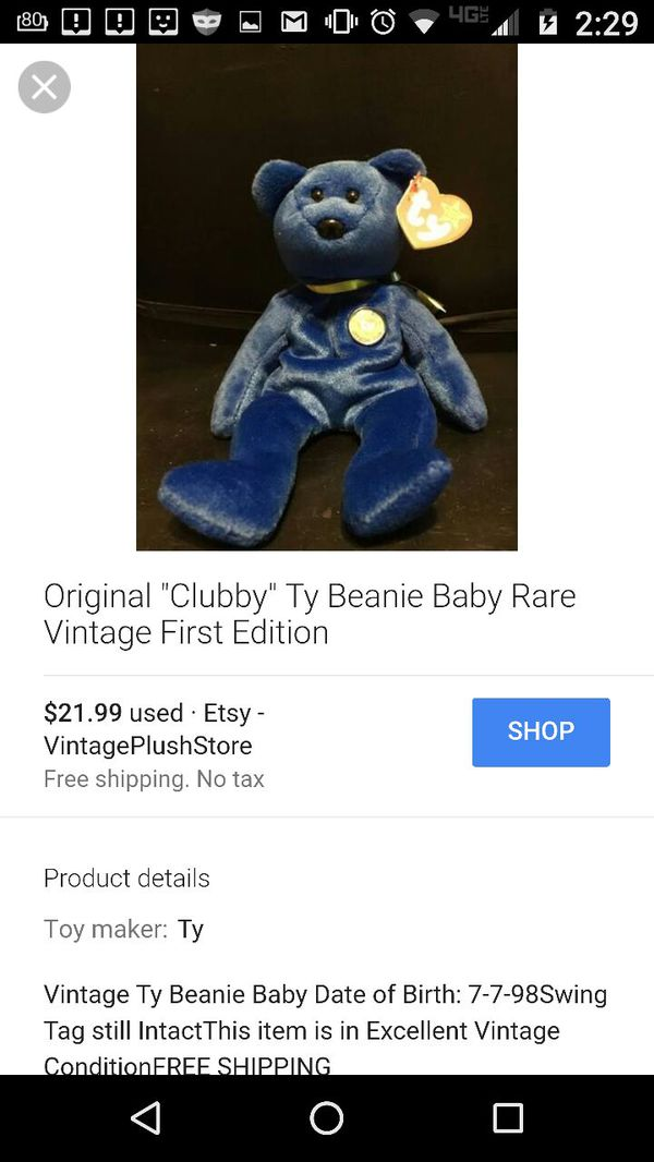 96e310479ed Blue Beanie baby for Sale in Killeen