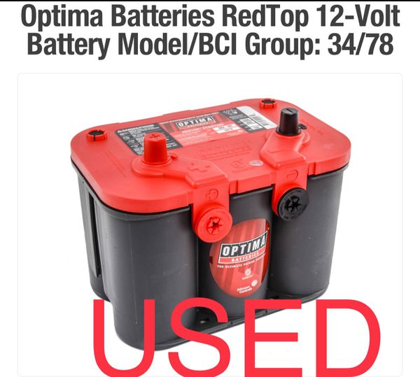 Group 34 Red Top Optima Batteries For Sale In Yuma, AZ