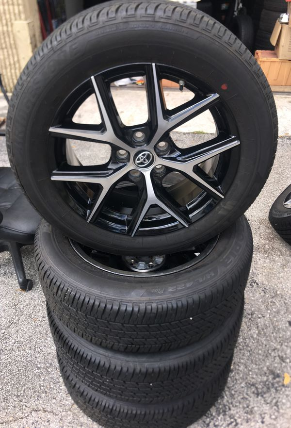 Toyota Rav4 2017 Rims With Brand New Bridgestone Tires