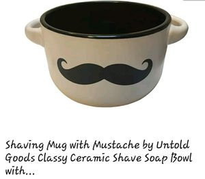 Mustache shave bowl, mug for Sale in Fairfax, VA