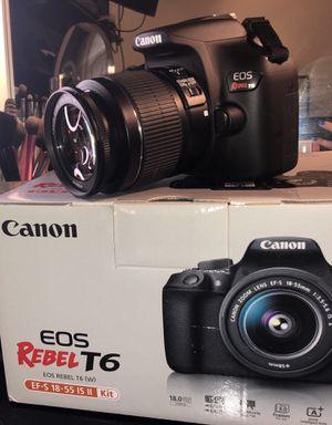 Cannon DSLR Camera (EOS Rebel T6) for Sale in Manassas Park, VA