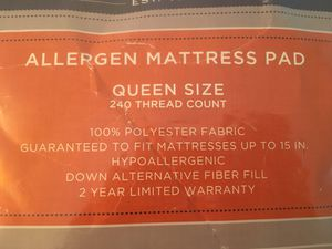 Cannon Allergen Mattress Pad (Queen Size) for Sale in Alexandria, VA