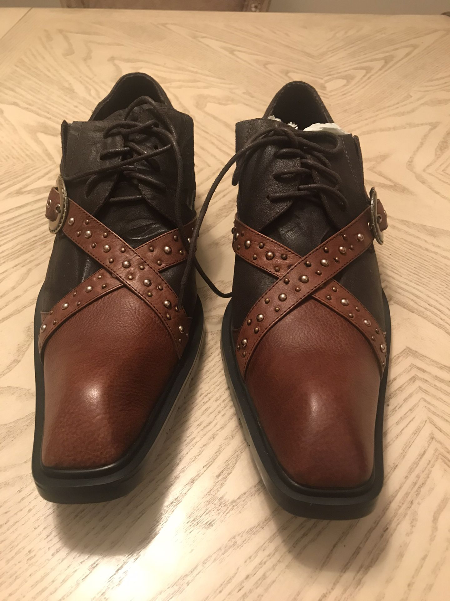 Aurelio Garcia Fiesso leather and suede shoes size 42