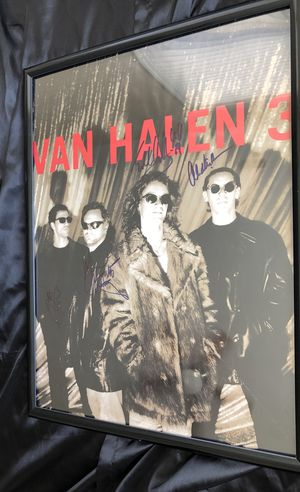 Van Halen Autographed Signed Poster for Sale in St. Louis, MO