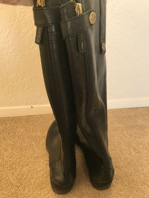 45e851f3112a Sam Edelman Black leather tall boots size 7 for Sale in Kirkland