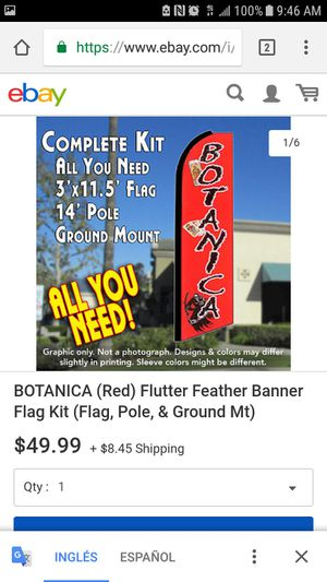 Botanica bandera feather flag for Sale in Orlando, FL
