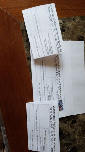 Midsummer Renaissance faire tickets for Sale in Tacoma, WA