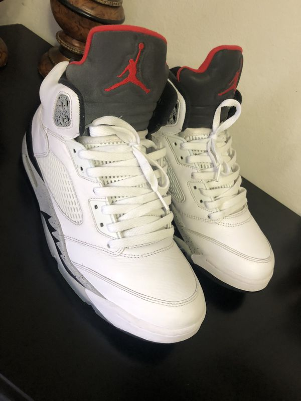 pretty nice f8f44 cb0f2 Air Jordan 5 white cement for Sale in Hayward, CA - OfferUp