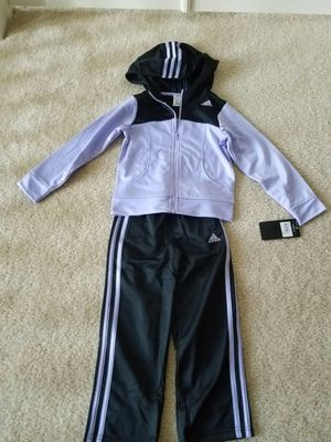 New with tags girls clothes hooded full zip Adidas warm tracksuit pantset size 4T - $30 price firm for Sale in Rockville, MD