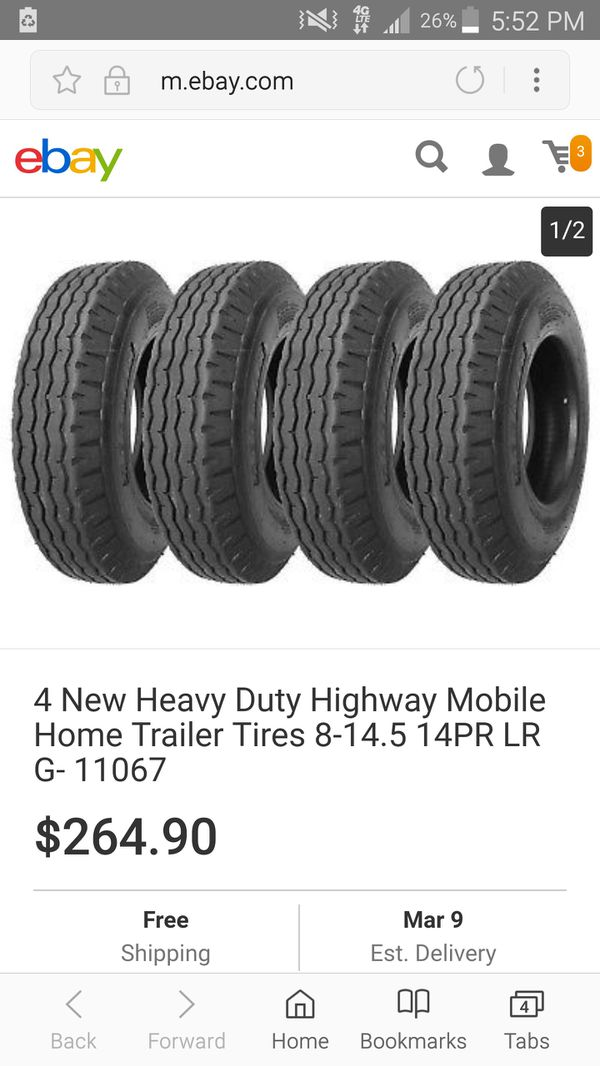 Brand New Never Installed Trailer Mobile Home Tires For Sale In North Wales Pa Offerup