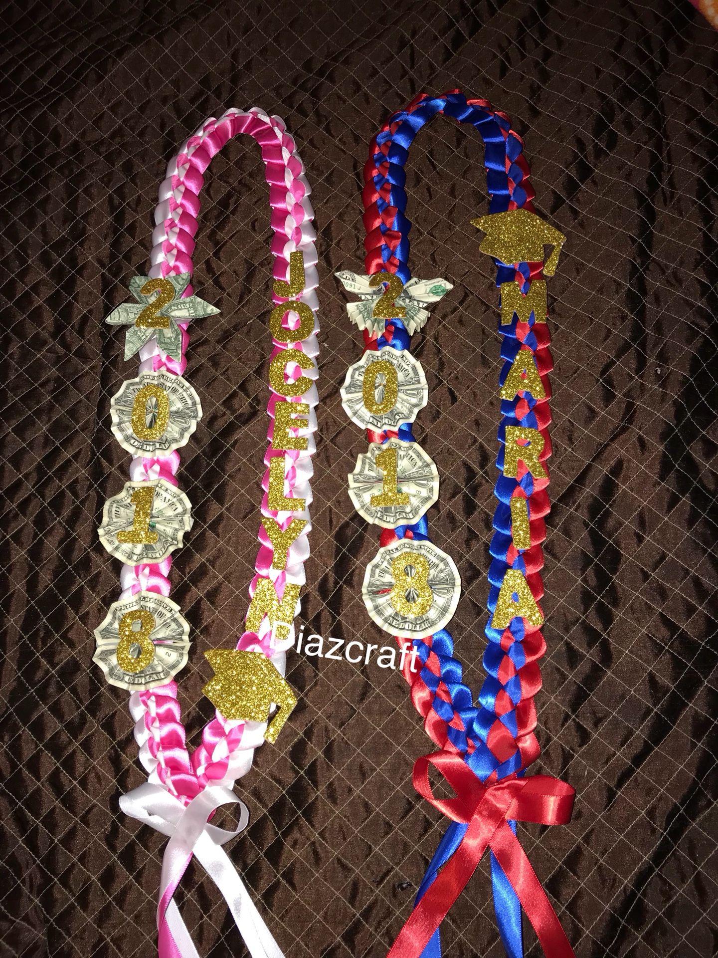Money custom graduation leis ( boy or girl ) any school grade ‼️