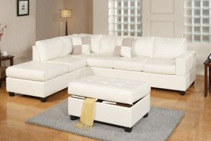 SECTIONAL WHITE WITH OTTOMAN just $40 down payment to take it home for Sale in Hollywood, FL