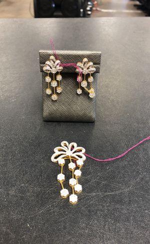 22KT Diamond Pendant & Earrings for Sale in Maitland, FL