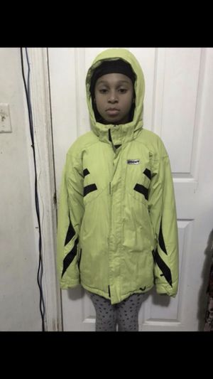 Spider ski jacket size 18 kids color lime green in Great condition for Sale in Washington, DC