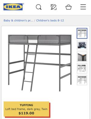 IKEA Tuffing Loft Metal Bed for Sale in Gaithersburg, MD