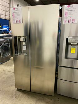 LG SIDE BY SIDE WITH IN DOOR ICE MAKER STAINLESS STEEL REFRIGERATOR LSXS26326S Thumbnail