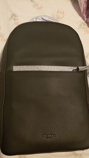 Photo Mens black COACH backpack