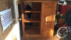 Brown wooden shelf with drawers for Sale in Frederick, MD
