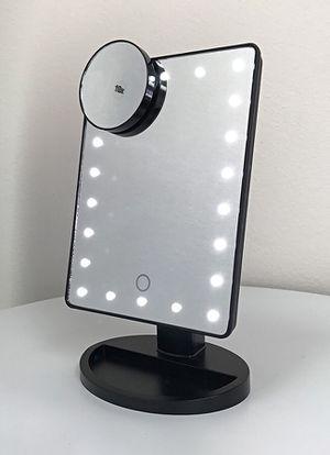 Travel Floxite 8X Magnifying Makeup Vanity Mirror Flat Folding