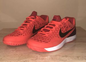 Nike Men s Zoom Cage 2 Tennis Shoes 705247-806 (Crimson Black Red) size US  11.5 for Sale in Brecksville 876ce2248