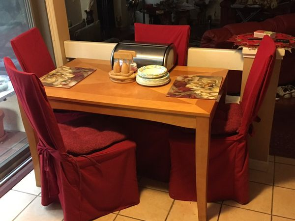 BUTCHER BLOCK KITCHEN TABLE & CHAIRS for Sale in Redwood ...