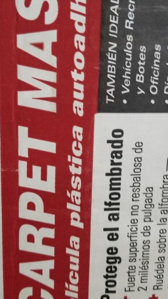 CARPET MASKING TAPE! PROTECT YOUR CARPET