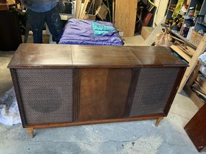 Photo Mid Century Record Player Cabinet