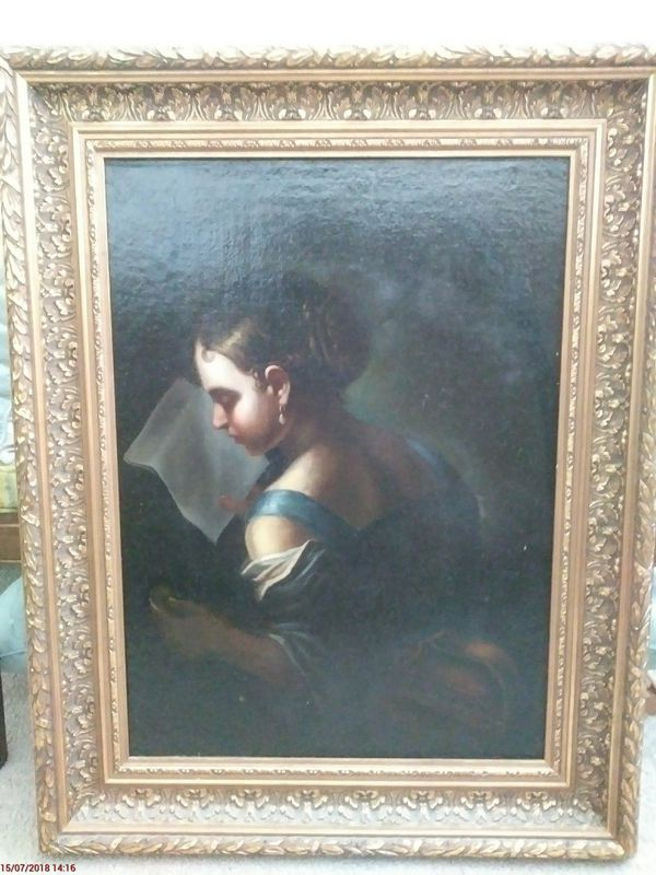 Antique oil on canvas framed art (Antiques) in Delray Beach, FL ...
