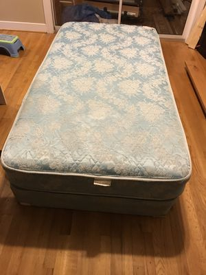 Full size wicker headboard and metal bed frame for Sale in Richmond ...