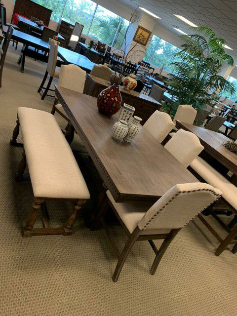 Free, Same Day Delivery, Brand New 5 Piece Brown Dining Room Set, $39 Down Payment