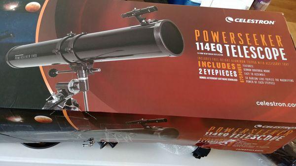 Celestron power seeker eq telescope