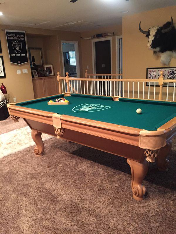 Custom Raider Pool Table For Sale In Henderson NV OfferUp - Raiders pool table