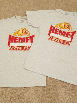 Hemet High PE Gym Shirts Size Medium Thumbnail