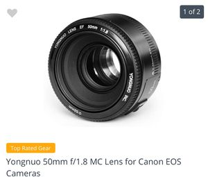Yongnuo 50mm EOS Lens for Canon for Sale in Chicago, IL