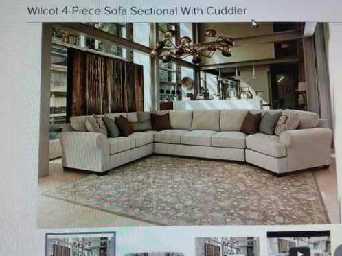 Wilcot 4 Piece Sofa Sectional With Cuddler From Ashley Furniture