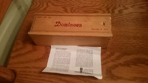Vintage dominoes complete Bakelite w/brass spinners for Sale in Montgomery Village, MD