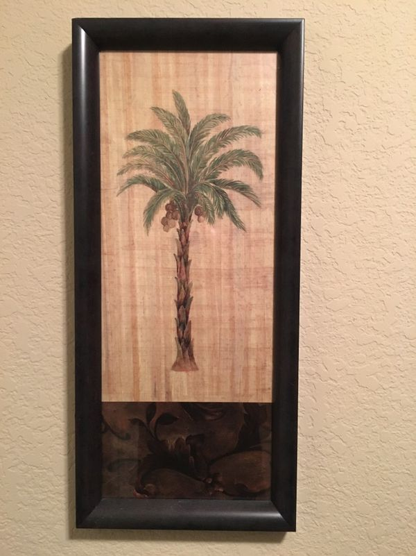 Palm Tree Framed Art Picture 9 5 X 21 Artificial 12 Both For 20 In Las Vegas Nv Offerup