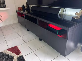 Black Tv Stand Good Condition Thumbnail
