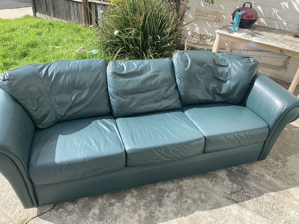 Moving Nice Leather Sofa!!!! not plastic!!! Beautiful!!! for Sale in  Fremont, CA - OfferUp