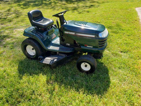 Craftsman 42 Inch Cut Riding Lawn Mower For Sale In Warner