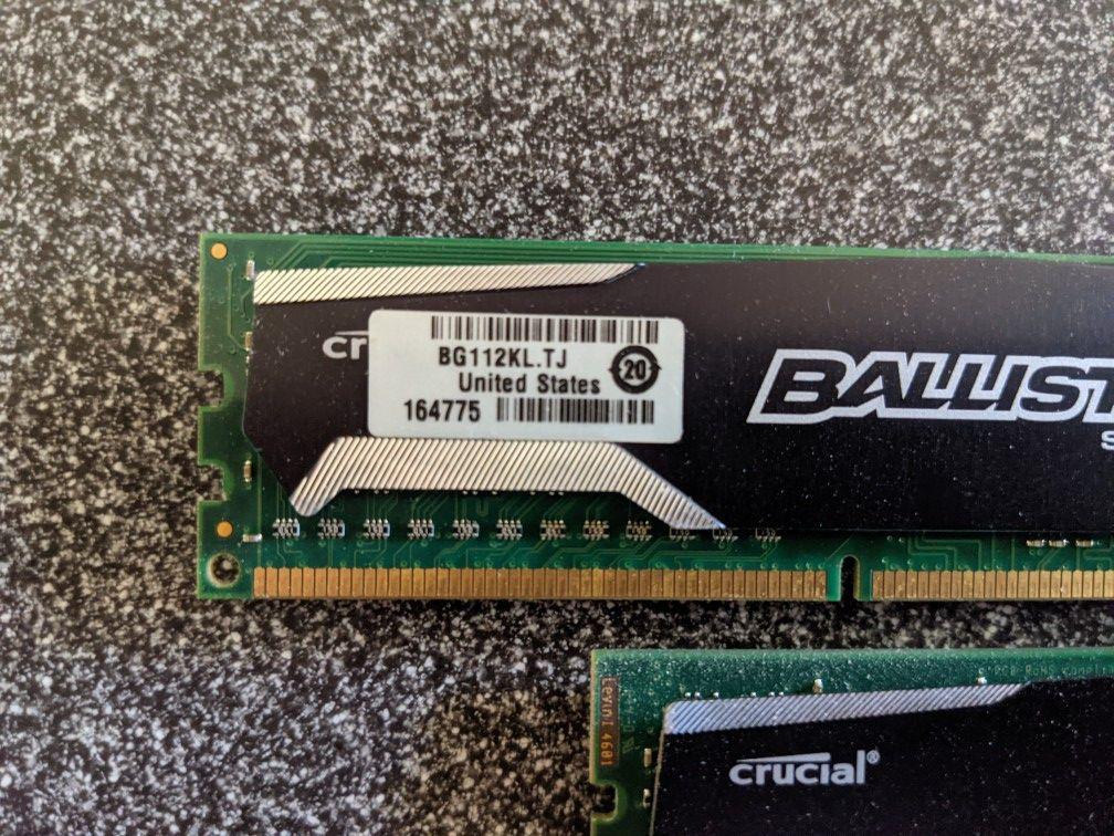 Crucial Ballistix Sport 16GB DDR3 PC3-12800 RAM (4x4gb) BLS4G3D1339DS1S00.16FMR