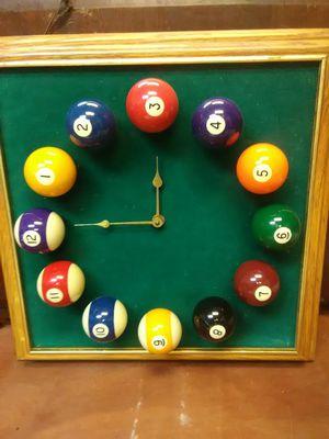 Pool table clock billard balls for Sale in Oakland Park, FL