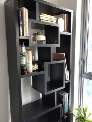 Modern geometric dark brown bookcase shelves for Sale in Washington, DC