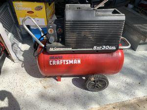 Photo Craftsman compressor 5hp 30 gallons