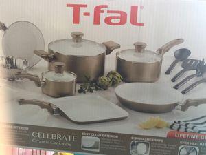 T-fal celebrate ceramic cookware 14 pcs (brand new in box) for Sale in Orlando, FL