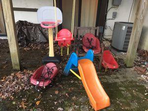 Swings, slide, and hoop! for Sale in Herndon, VA