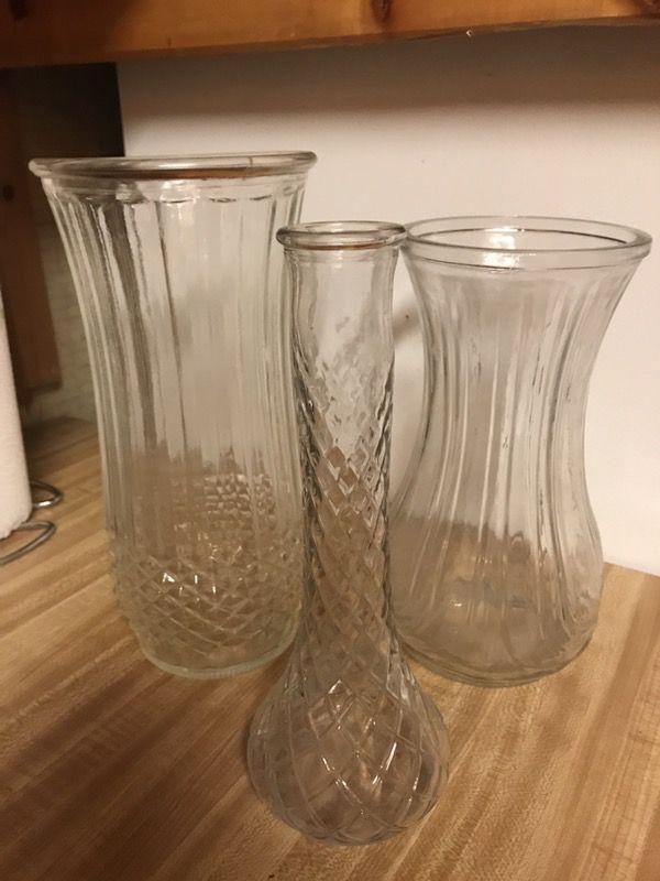 Clear Vintage Hoosier Glass Vases Antiques In Glendale Az Offerup